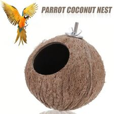 Coconut Shell Natural Bird Nest Feeder Hanging Cage for Hamster Small Parrots