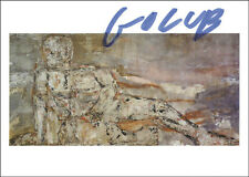 LEON A. GOLUB - PICTURE POST CARD SIGNED