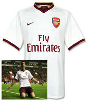 Raro Nuevo Nike Arsenal Club de Fútbol Herbert Chapman Camisa Blanca 2007/08XL B