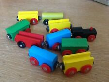VINTAGE WOODEN TRAIN AND CARRAGES