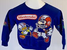 Vintage Todler Size Nintendo NES Mario Sweatshirt Sweater Shirt 1991