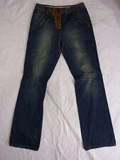 New Nine Lives Designer Distressed Denim Leather & Studs 23J4458  Jeans Size 27