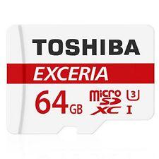 Toshiba Micro SDXC 64GB Exceria Class 10 UHS-I U3 90MB/s Flash Memory Card ct