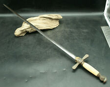 "Antique Masonic Knights of Templar Sword 33 3/4"" L Bone Handle (H2)"