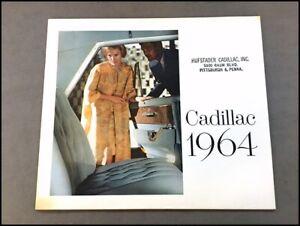 1964 Cadillac Car Sales Brochure Catalog  DeVille Convertible Fleetwood Eldorado