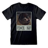 Baby Yoda Power Nap The Child Star Wars Mandalorian Men Black T-shirt