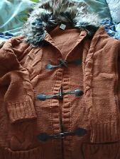 Brown long Sleeved Cardigan Coat