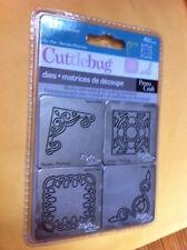 NEW Provo Craft Cuttlebug VINTAGE 4 DIES CORNERS 37-1201 SEALED