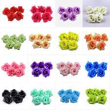 30/50Pcs 8cm Rose Flower Heads Artificial Silk Party Wedding For Hair Clip Decor