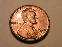 1935-S Choice BU+ Very Red Lincoln Wheat Cent Original Luster One Penny USA Coin
