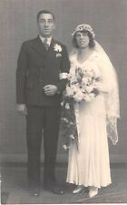 Wedding - Bride and Groom - Real Photo by  J.G. Whorwell. Dover, Kent