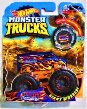 "2018 Hot Wheels Monster Trucks ""Hot Wheels Delivery"" Includes Collectible Wheel"