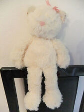 "10"" KEEL CREAM KITTEN CAT KITTY PINK NOSE BOW SOFT CUDDLY TOY TEDDY BEAR NEXT H"