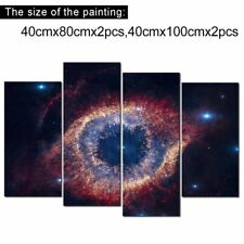 Landscape Canvas Wall Art Painting Framed Large 4PcsAbstract Helix Nebula Galaxy