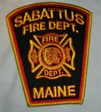 New Embroidered Uniform Patch SABATTUS MAINE  FIRE DEPARTMENT