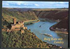 ST. GOARSHAUSEN AM RHEIN * BURG KATZ AND LORELEI ON THE RHINE, GERMANY >