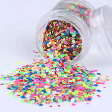 10g/Box Candy Color Round Nail Art Sequins Mixed Glitter DIY Manicure Decor Tips