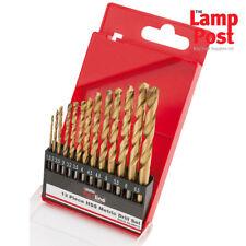 Draper 68415 - 13 Piece HSS Metric Twist Drill Bit Set Titanium Nitride Coated