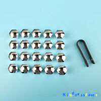 20x Silver 19mm Wheel Nut Cover Bolt Cap For Ford Focus Kuga C-Max Opel