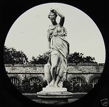 Glass Magic Lantern Slide WINDSOR CASTLE DIANA IN MARBLE C1890 ENGLAND