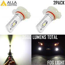 Alla Lighting 5202 Super Short LED Driving Fog Light Bulb 6000K Bright White 2pc