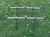 2 x 3 Rod stainless steel goal post / Buzz Bars & 4 x 15-25cm bank sticks.