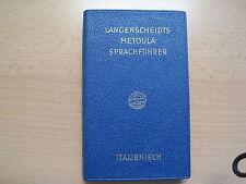 Langenscheidts Metoula Sprachführer Deutsch - Italienisch Themengebieten 1955