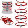 DIY Evil Eye Red Cord Lucky String Beaded Bracelet Protection Adjustable Jewelry