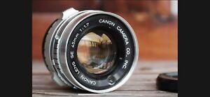 Canon Se 45mm F1.7 For Sony E-mount Nex Full Frame Mirrorless Coverted Lens