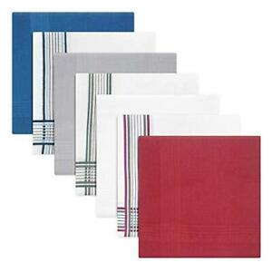 3 Pack Mens Cotton Dyed Coloured Satin Border Handkerchiefs by Warwick & Vance