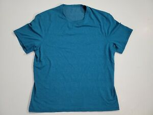 LULULEMON Tee shirt Mens Medium Small Cool Casual Solid blue athletic stretch