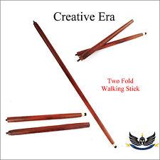 2 Fold Vintage Wood Walking Stick Cane Only For Cane Handle (Only wooden shaft)