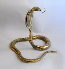 Vintage artisan Anglo Indian brass cobra shaped watch stand 11395