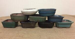 12cm Mixed Bonsai Pots X5