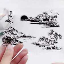 Mountain Transparent Clear Silicone Rubber Stamp Cling DIY Scrapbooking Card