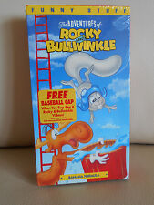 "Vhs Bnib Adventures Of Rocky & Bullwinkle Tape, ""Banana Formula"", 63 Minutes"