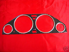 USA 84-91 BMW E30 3 SERIES M CARBON BEZEL GAUGE TRIM + M3 GAUGE RINGS FREE SHIP!