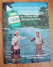 1965 Salem Cigarette Ad  Couple Fly Fishing Theme