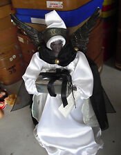 "Unique BIG Plastic Sandy Dolls Dara Black Angel Tree Topper Girl 18"" Tall"