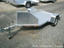 Aluma MC10 single Motorcycle trailer Utility Trailer  aluminum w upgraded chock