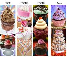 3 * CUPCAKE BOOKMARK Baking Cup CAKE COOK Chef Book Food Card Chocolate ORNAMENT
