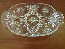"""Small Glass Pickle Serving Tray 6"""" x 10"""""""
