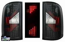 2007-09 GMC Sierra 1500 2500 Denali LED Tail Light - BLACK