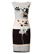 New Phase Eight Dress Size 18 Rai Grey Floral Wiggle Pencil Wedding Occasion NWT