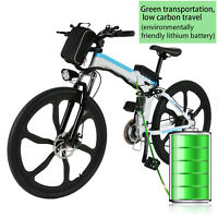 """Electric E Bike Adult 26"""" Aluminum Frame in Lithium Battery Mountain Bicycle"""