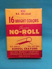 Milton Bradley Junior No-Roll School Crayons 16 Bright Colors Unused Vintage