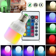 RGB 5W LED Bulb Light 16 Color Changing E27 Lamp IR Remote Controller Dimmable