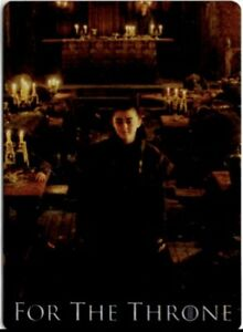Game Of Thrones Season 8 For The Throne Metal Insert Chase Card, F11 Arya Stark