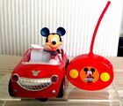 Disney Junior Mickey Mouse Red Roadster Toy Car with RC Remote Control. It runs.