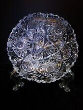 1902 Libby American Brilliant Period Cut Crystal Serving Bowl Antique